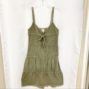 FRee People FP Green Tiered Halter Sundress Size 4